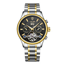 Luxury Men Automatic Date Waterproof Stainless Steel Mechanical Wrist Watch Week