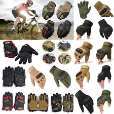 Men Half/Full Finger Tactical Gloves Outdoor Sports Military  Motorcycle Gloves