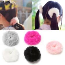 Fashion Fluffy Faux Fur Furry Scrunchie Elastic Hair Ring Rope Band EE6 01