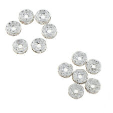 100Pcs Stylish Silver Metal Crystal Beads Spacer for DIY Jewelry Making