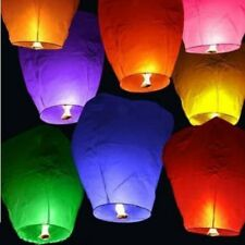 10PCS Chinese Paper Sky Flying Lanterns Fire Light Wishing Lamp Wedding KongMing