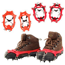 Anti Slip 11-Teeth Ice Snow Shoes Spike Grip Boots Chain Crampons Grippers