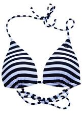 Size 8 Womens Rip Curl LOVE N SURF MOULDED TRI Separate Bikini Top - Black/White