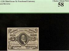 5 CENT FRACTIONAL CURRENCY 1864 1869 SPENCER CLARK NOTE MONEY Fr 1238 PCGS 58