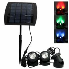 Solar 18LED RGB Outdoor Garden Landscape Yard Spot Light Lawn Lamp Spotlight AU#
