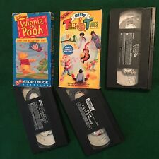 Lot of 3 Winnie the Pooh and the Blustery Day - Tales and Tunes - Muppet Babies
