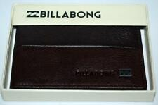 billabong WALLET MENS NEW HIGHWAY 2  BLACK  100% REAL LEATHER LOGO Dual 2 in 1
