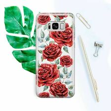 Samsung Galaxy s8 Plus Case s6 7 Cover Silicone Case Note Galaxy s9 Floral Roses