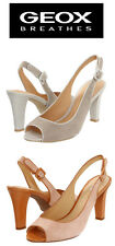 New Geox Donna MARIAN2SK Womens Woven Suede Leather Slingbacks Sz 9M  MSRP$145