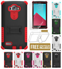 TRI-SHIELD RUGGED SOFT SKIN HARD CASE COVER KICKSTAND SCREEN PROTECTOR FOR LG G4
