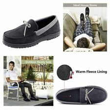 Mens House Shoes Moccasin Slippers Memory Foam Winter Slipper Size 11 M Washable