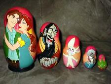 Rare  ANASTASIA 5 pc RUSSIAN MATRYOSHKA Nesting Doll Set DISNEY Broadway Musical
