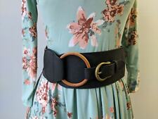 Buckle Belt - Black wrap belt cinch belt vegan leather  corset belt Buckle
