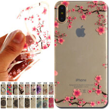 Fashion TPU Rubber Silicone Shockproof Soft Skin Cover IMD Case For Apple iPhone