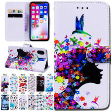 Flip Card Wallet Skin PU Leather Stand Shockproof Case Cover For Apple iPhone