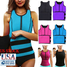 US Women's Sport Latex Waist Trainer Corset Underbust Shapewear Slim Body Shaper