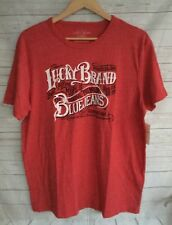 "LUCKY BRAND Men's Tee Shirt ""Blue Jeans"" GraphicTee Pompeian Red T-Shirt NWT"