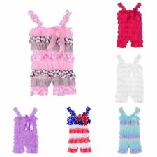 Newborn Infant Baby Girls Lace Posh Petti Ruffle Rompers 0-3Y Baby Clothes US