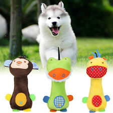 Funny Pet Dog Cat Toys Pet Puppy Chew Squeaker Squeaky Plush Sound Cartoon NEW