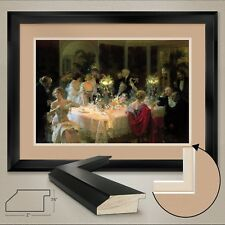 """44W""""x32H"""": END OF DINNER by JULES ALEXANDER GRUN - DOUBLE MATTE, GLASS and FRAME"""