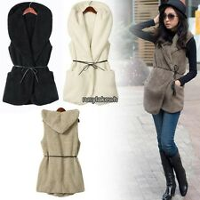 Hot Korea Women Royal Warmer Double Warm Casual Hoodie Vest Coat 5 Colors RLWH01