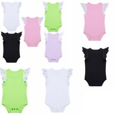 Newborn Infant Baby Boy Girl Clothes Cap Sleeves Romper Jumpsuit Playsuit Outfit