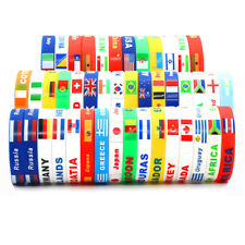 2018 World Cup Country Flag Silicone Bracelet Rubber Sports Cuff Fans Wristband