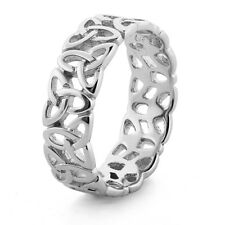 Mens/Ladies Solid 925 Sterling Silver Celtic Finger/Thumb Ring Sizes N  - Z+1