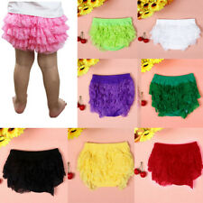 Cute Toddler Baby Girl Lace Ruffle Bloomer Nappy Underwear Panty Diaper Cover