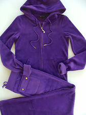 Juicy Couture J Bling Hoodie Pocket Pants Purple Tracksuit Medium Small