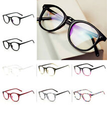 Unisex Retro Fashion Vintage Glasses Round Clear Lens Eyewear Lady Women Men New