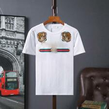 Popular Men's Tiger embroidered Short Sleeve Casual Cotton Letter New T-Shirt