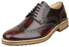 Mens UK Size 9 Oxblood Brogue Gibson Shoes Hi-Shine Leather