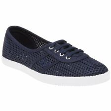 New WOMENS FRED PERRY BLUE AUBREY MESH TEXTILE Sneakers PLIMSOLLS