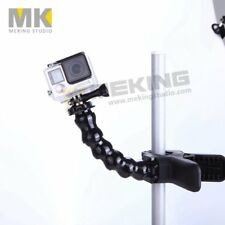 Meking Gooseneck with Clip Mount Foldable Supported for GoPro Hero/ SJCAM Action