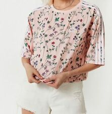 ADIDAS ORIGINALS FLORAL LOVE SET CROPPED TEE  -SIZE UK  6,8,10,12  BNWT  LAST 4