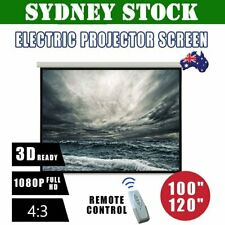 """100"""" 120"""" Inch Projector Screen Portable Electric Motorised TV Projection 3D SP"""
