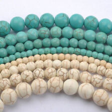 Hotsale Howlite Natural Crackle Turquoise Gemstone Round Loose Beads 4 6 8 10mm