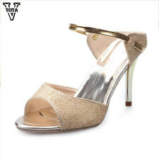 VTOTA Fashion Thin Heel Sandals Women High Heels Bling Shoes Woman Summer Party