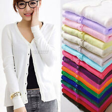 Ladies Womens New Crochet Knitted Button Cardigan Shirt Blouse Tops Sweater Coat
