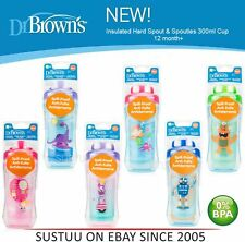 Dr Brown's Options Non-Spill│Insulated Hard Spout│Spoutless│Kids 300ml Cup 12m+