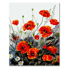 Diy oil Painting Paint by Numbers Kits for Adult -Gorgeous flowers(8) 16x20 Inch