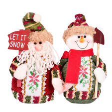 Exquisite Vivid Cloth Doll Elk Santa Claus Snowman House Ornaments Christmas