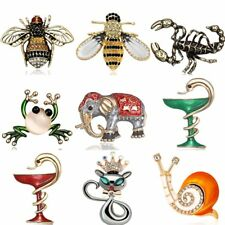 Fashion Animal Bee Carstal Pearl Brooch Pins Women Costume Jewelry Party Wedding