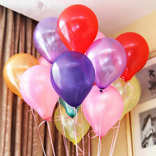 "100 Latex PEARL Balloons -10"" Inch - 16 Colours To Choose - Helium Quality Party"