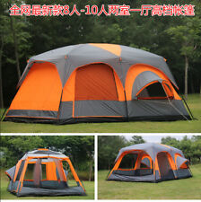 Ultralarge 6 8 10 12 Double Layers Outdoor Camping Tent Waterproof Family Tent