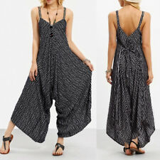 Fashion Women Strappy V Neck Bandage Loose Playsuit Party Clubwear Jumpsuit New