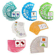 Flash Cards Set - Preschool Educational Learning Picture & Letter Card Pack