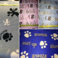 Polar fleece remnants pieces for clothing crafting, scarves, hats pink, blue