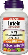 Webber Naturals Extra Strength Lutein with Zeaxanthin Softgel